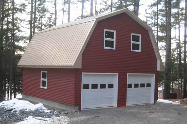 Custom detached garage by G & L Contrating.