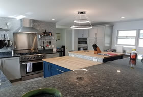 Custom kitchen by G & L Contrating.