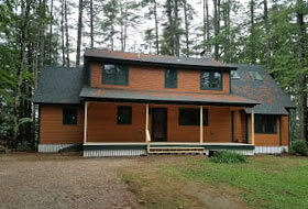 Custom new home construction by G & L Contrating.